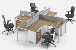 [FURN_8220] Four Person Desk